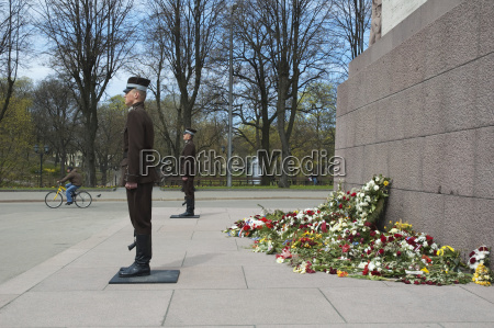 honour guard at the freedom monument