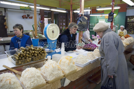 sauerkraut vendor at the central market