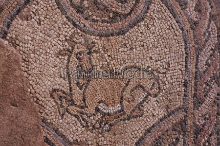floor mosaic in the catechumenium narthex