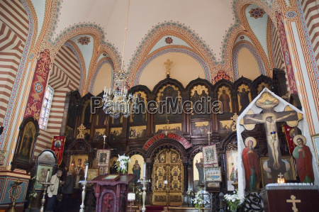 altar with icons at the st