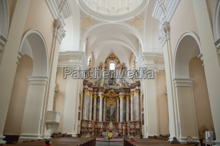baroque altarinside st casimirs church and