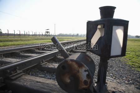 switch on the railway track along