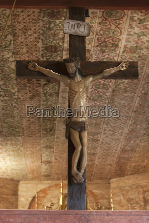 crucifix at the interior of the