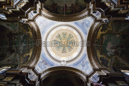 interior of the cupola of st