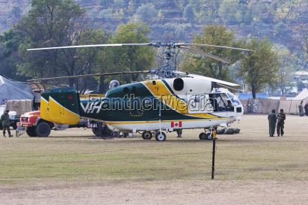 asia terremoto helicoptero pakistan aterrizaje almohadilla