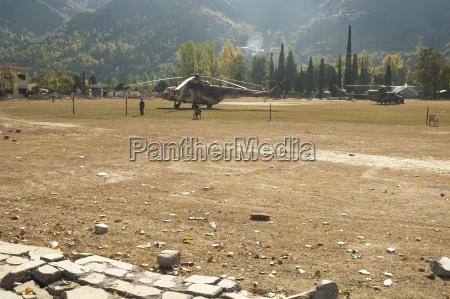 asia terremoto pakistan aterrizaje almohadilla himalaya