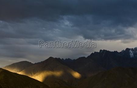 lamayuru ladakh india alpenglow on mountain