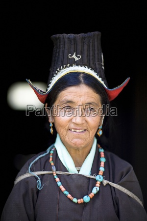 portrait of woman in traditional clothing