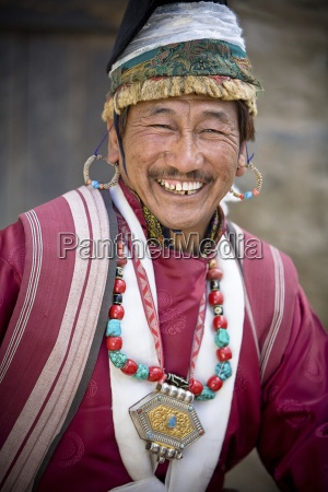 man dressed in traditional clothing leh