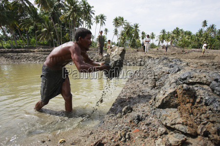 repairing ponds which are used for