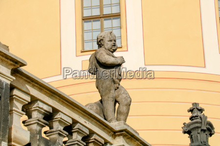figure at moritzburg castle near dresden