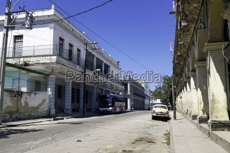 street of havana with old residential