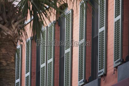 a row of windows on an