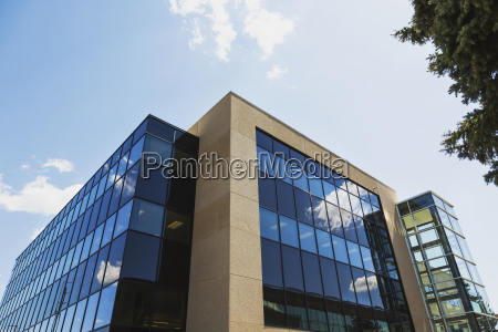 new construction of office building with