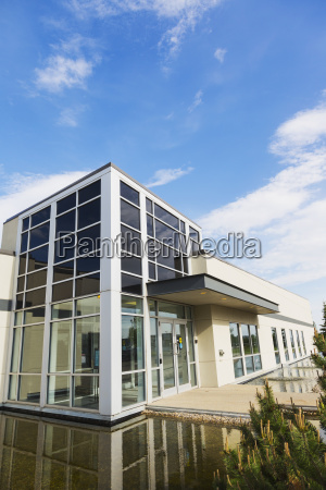 new construction of warehouse building with