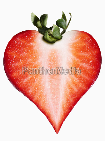 strawberry in the shape of a