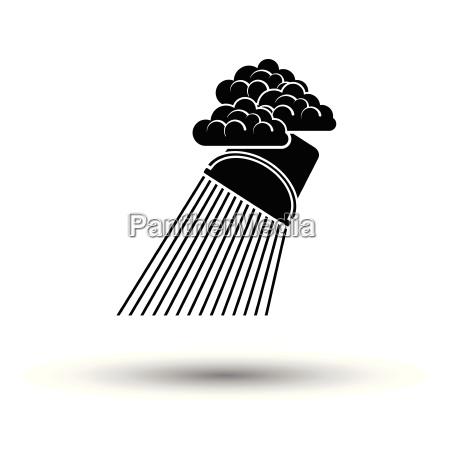 rainfall like from bucket icon