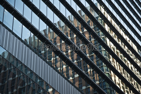 facade of a building with glass