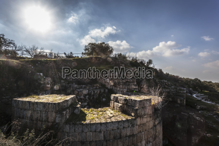 fortification wall west bank sebastia samaria