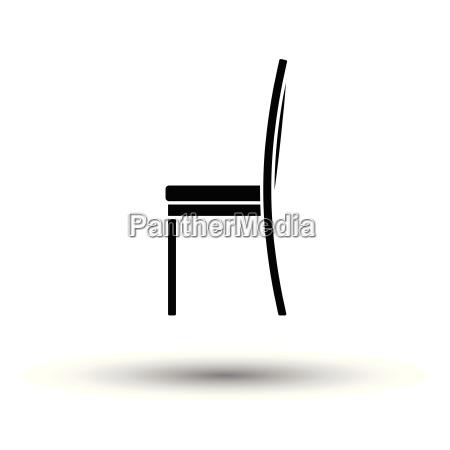 modern chair icon