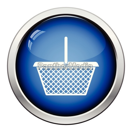 supermarket shoping basket icon