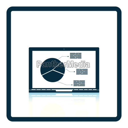 laptop with analytics diagram icon