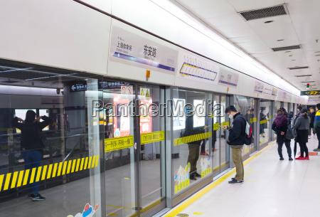 people shanghai metro station china