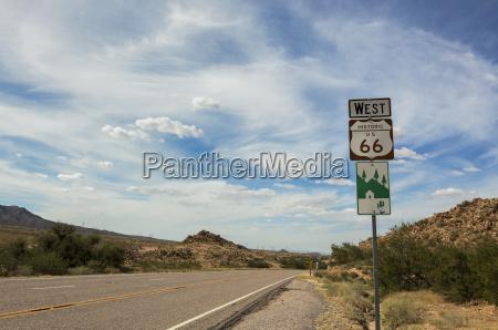 route 66 historic sign arizona united