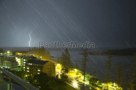 a lightning strike hits the ground