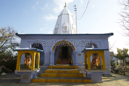 colourful indian hindu temple with tower