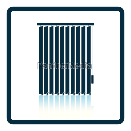 office vertical blinds icon