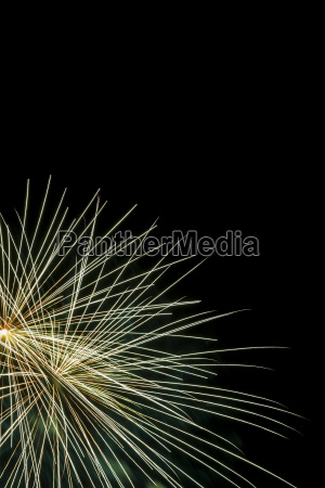 green fireworks in night sky quebec