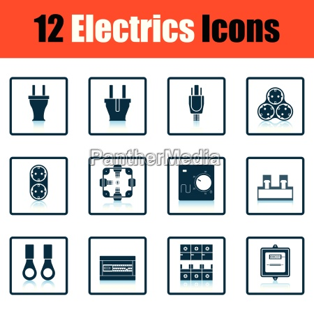 electrics icon set