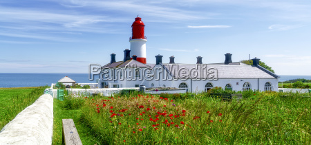 souter lighthouse with a field of