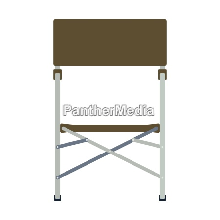 icon of fishing folding chair