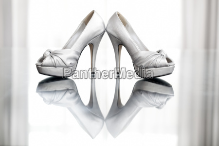 a pair of high heeled shoes