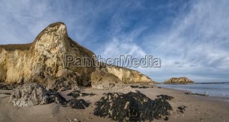 landscape of cliffs along the coastline