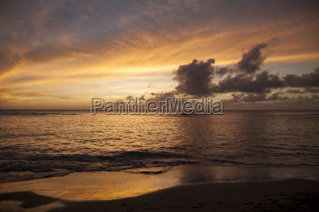 sunset at kee beach haena state