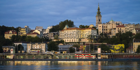 view of belgrade from the sava