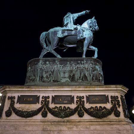 prince mihailo monument in republic square