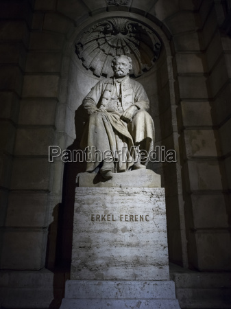 statue of ferenc erkel the hungarian