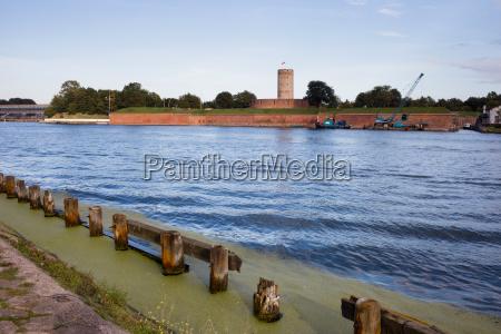 wisloujscie fortress at dead vistula river