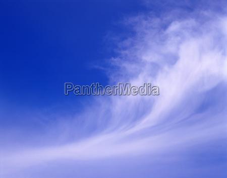 high altitude clouds in blue sky