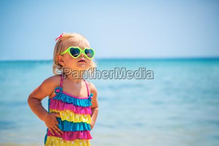 cute baby girl on the beach