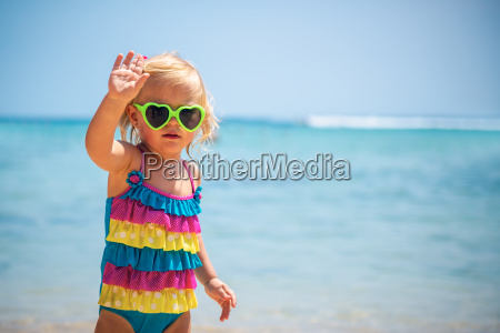 cute baby girl on the beach