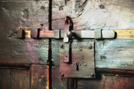 close up of wooden door tuscany
