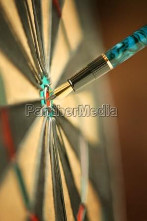 pen in bulls eye