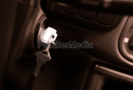 keys in ignition of vehicle