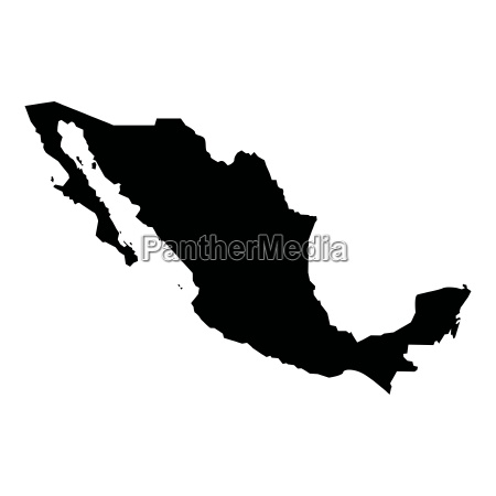 map of mexico icon black color