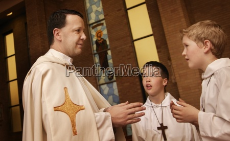 catholic teen being blessed